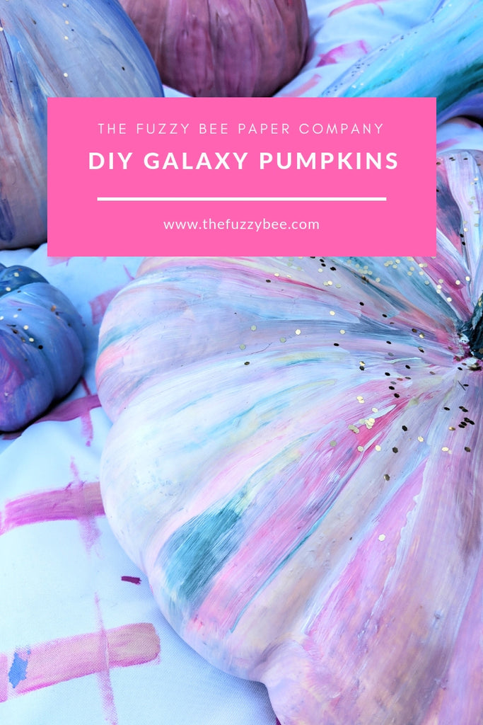 The Fuzzy Bee Blog: Painted Pumpkin DIY
