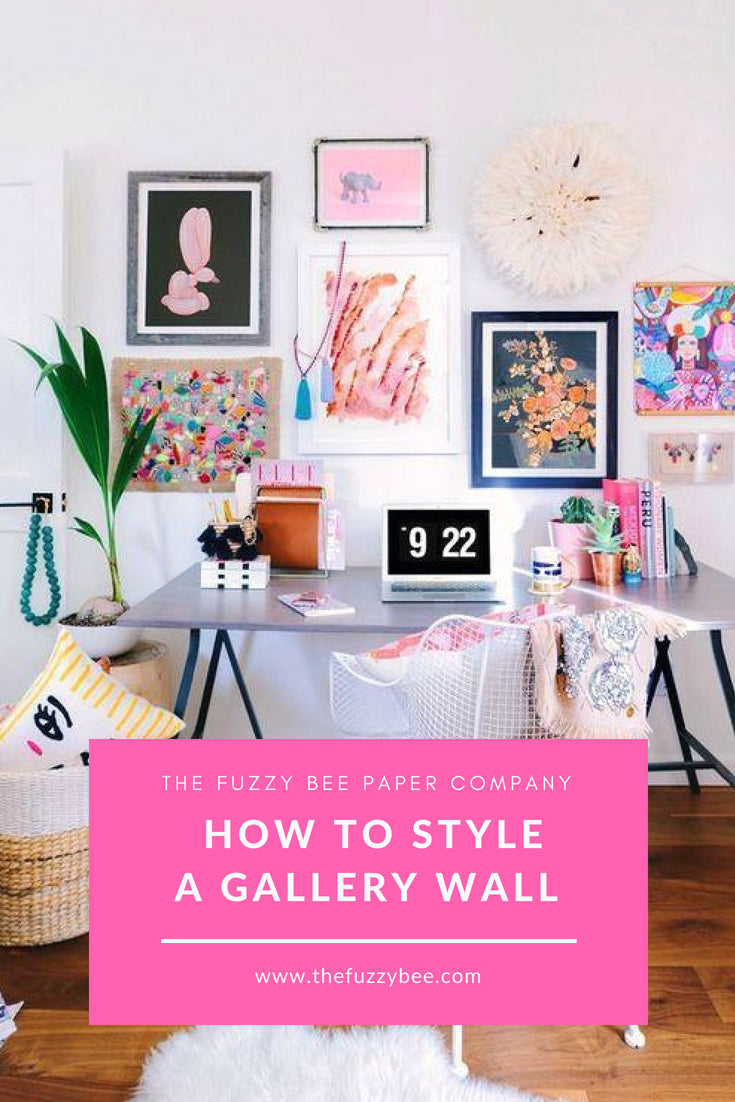 Fuzzy Bee Blog- How To Style A Gallery Wall