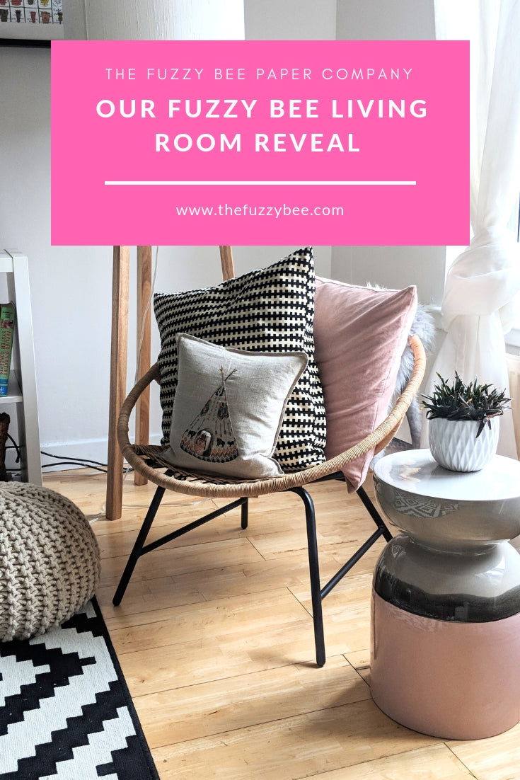 Fuzzy Bee Living Room Reveal