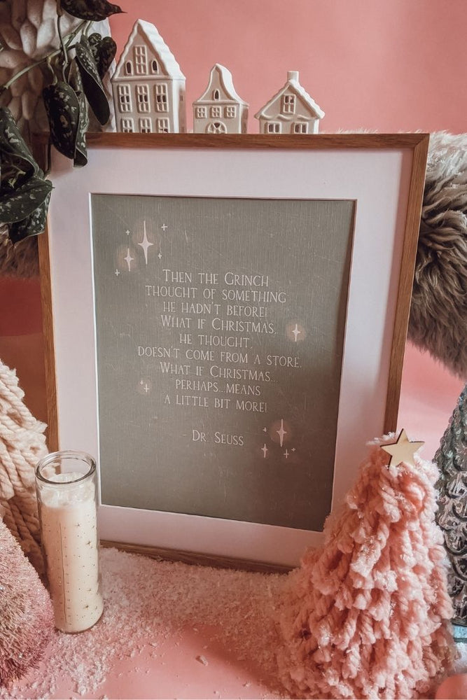 'Christmas Means A Little Bit More' Grinch Art Print (Green)