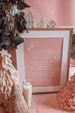 'Christmas Means A Little Bit More' Grinch Art Print (Pink)