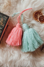 Medium Pink Wool Tassel