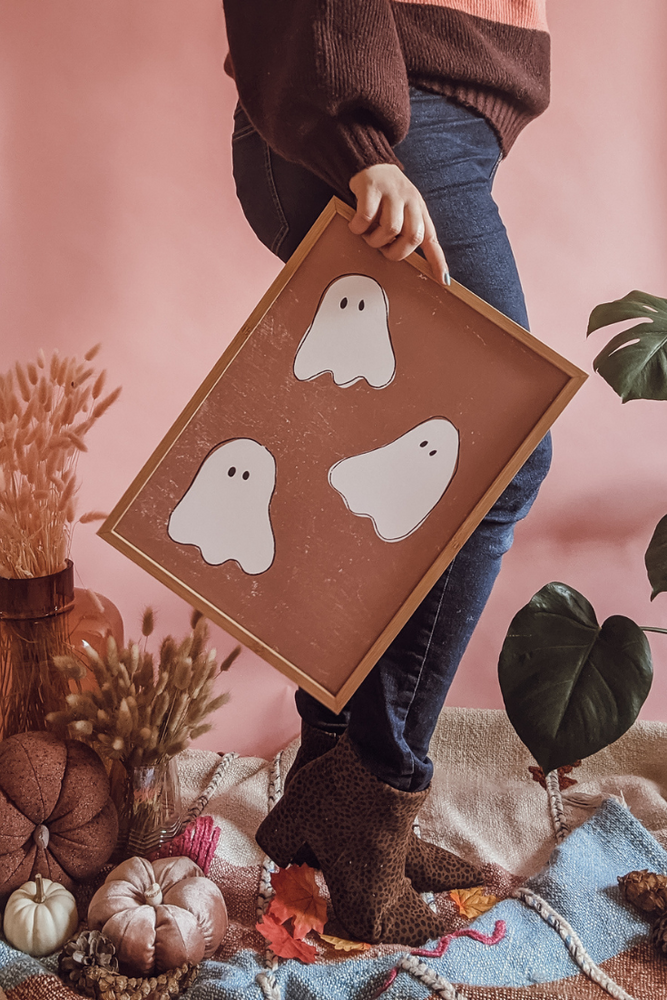 Friendly Neighborhood Ghosts Halloween Art Print