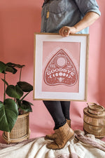 Boho Bee Ouija Board Art Print