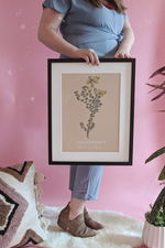 Boho Neutral Yellow Gorse Art Print