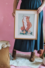 Spring Fox Illustrated Art Print