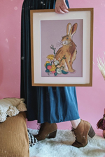 Spring Hare Illustrated Art Print