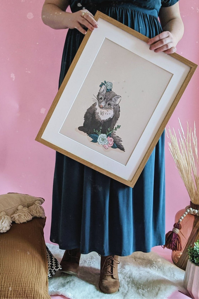 Spring Marten Illustrated Art Print