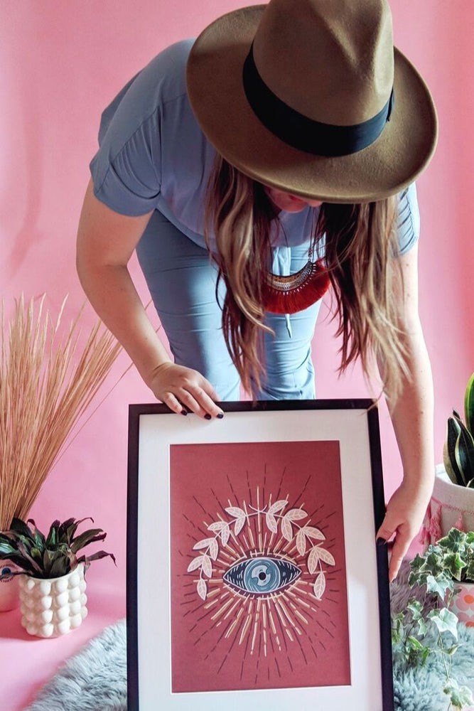 Occult Boho Seeing Eye Art Print
