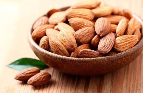 Almonds are an excellent source of Vitamin E