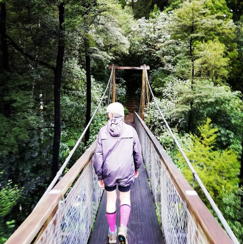 Walking along the Pelorus Bridge