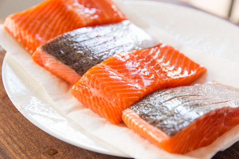 Salmon and oily fish contain contain omega-3 essential fatty acids (EFAs)