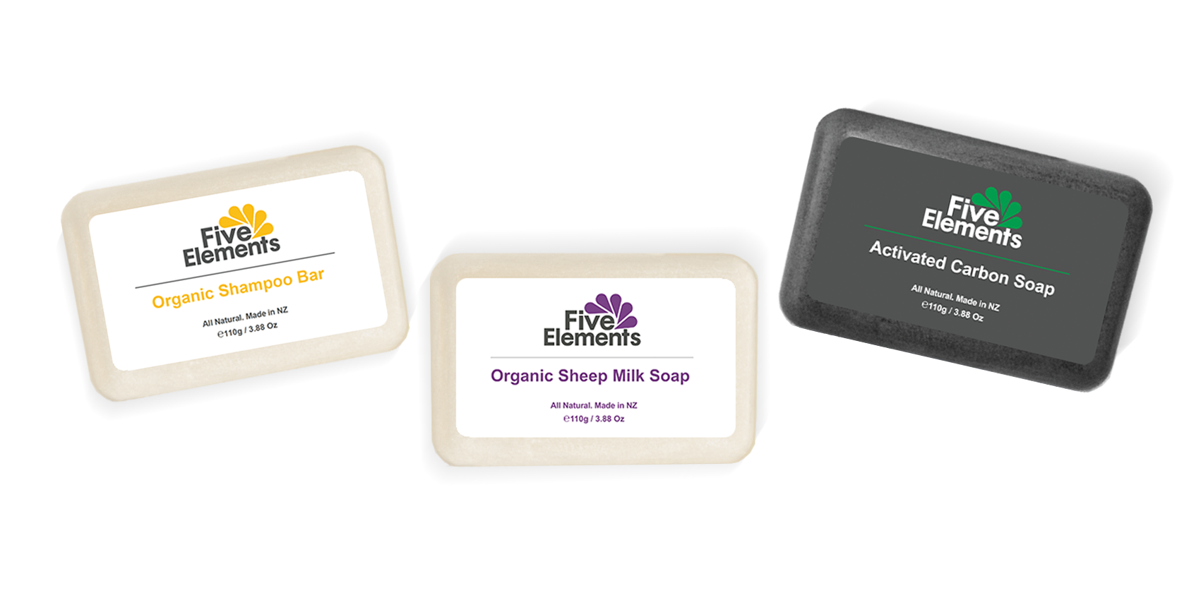 Organic Shampoo & Soap Three Piece Gift Set