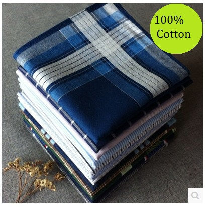5Pcs Thin 100% Cotton Handkerchief 40cm*