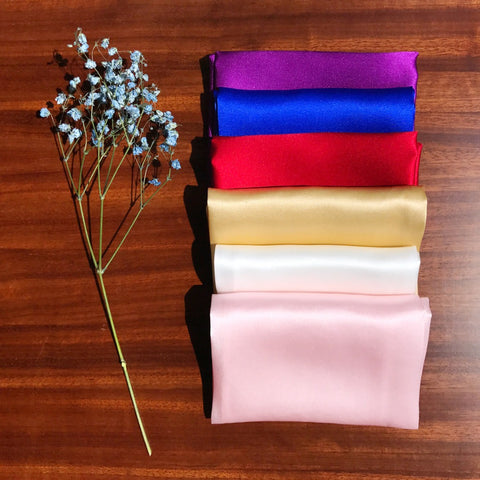 100% Natural Silk Men Pocket Square 35cm*