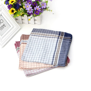 15pcs Mens 100% Cotton Plaid Handkerchief 40x40cm