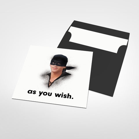 As You Wish Blank Greeting Card