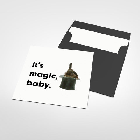 It's Magic Baby Blank Greeting Card
