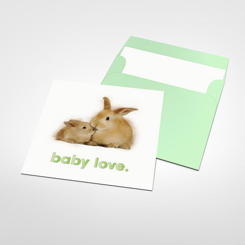 Baby Love Blank Greeting Card