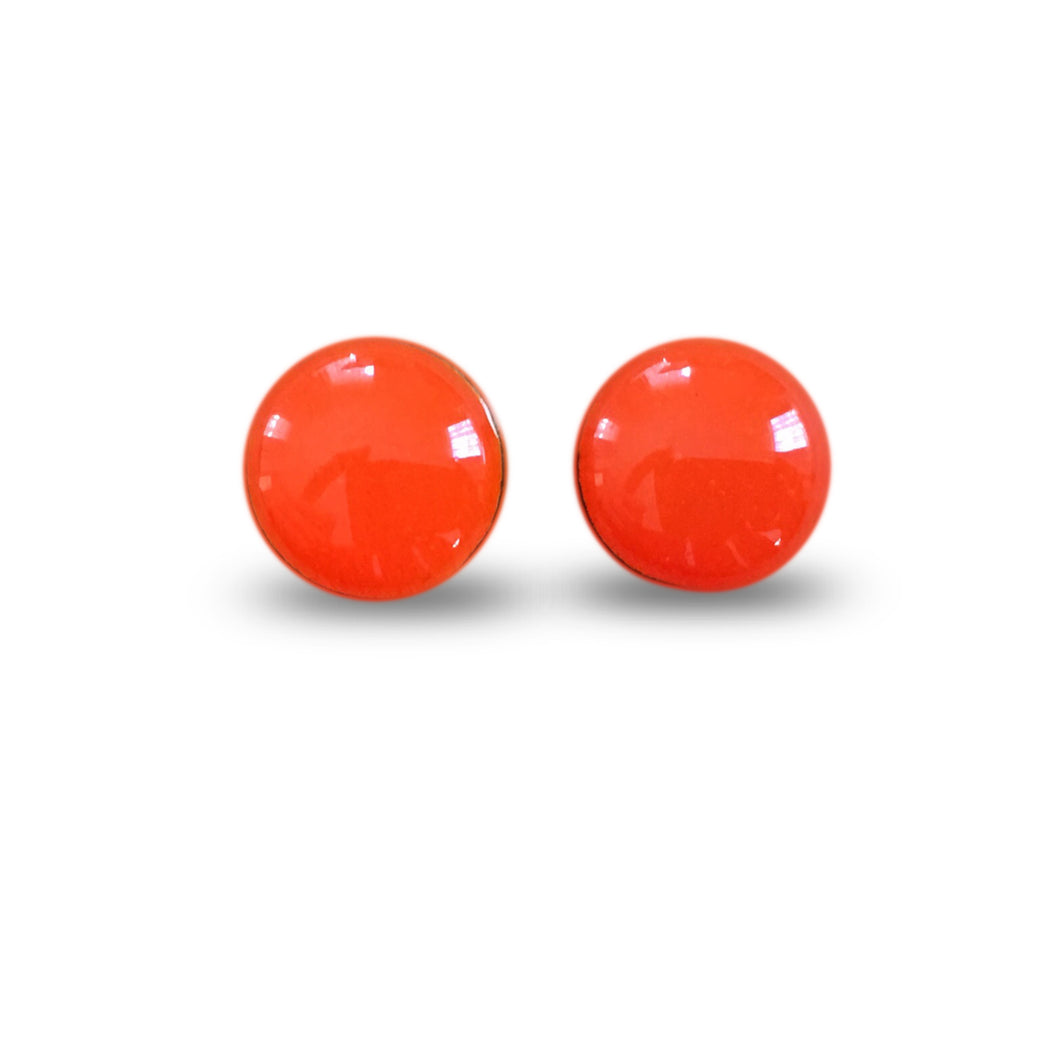 flluskë Studs - Fluro Orange