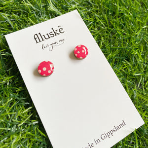 flluskë Studs - Easter Eggs ~ Bright Pink