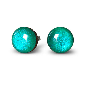 flluskë Studs - Emerald Magic