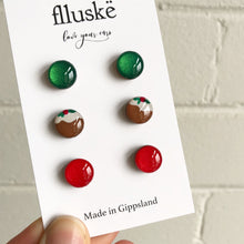 Christmas Studs Pack - Light Red
