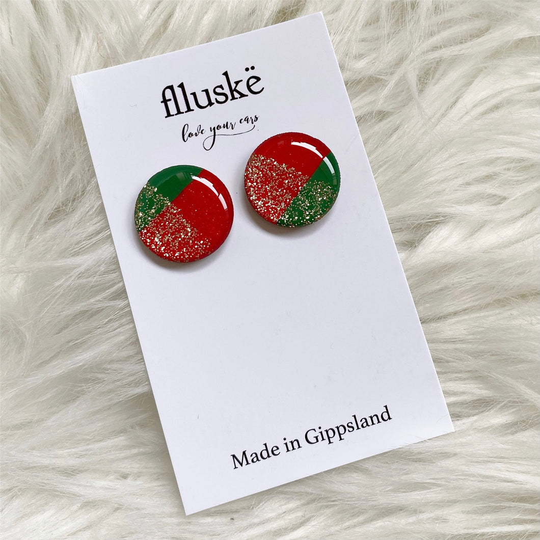 Large flluskë Studs - Mrs Claus