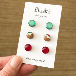Christmas Stud Pack - Dark Red
