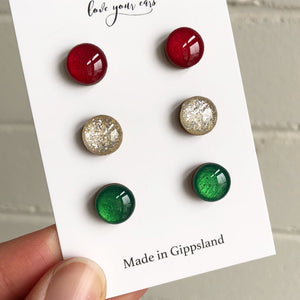 Christmas Stud Pack - Silver