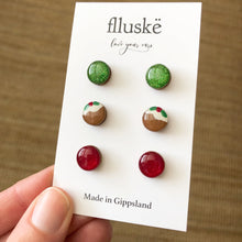 Christmas Stud Pack - Sparkly Green