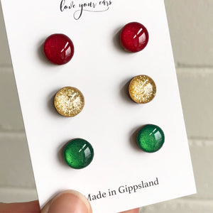Christmas Stud Pack - Gold