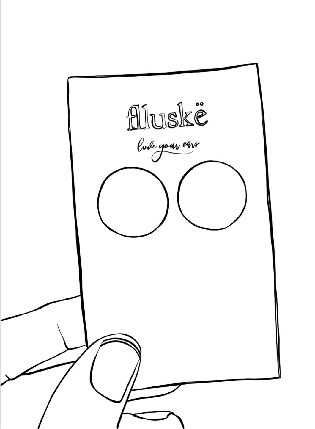 FREE Printable - flluskë Earring Colouring Page