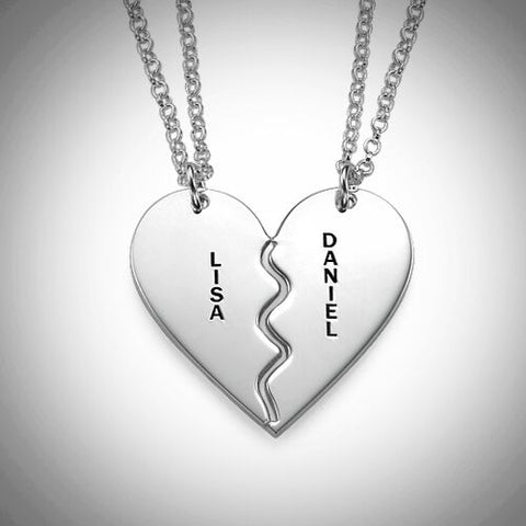 Silver Detachable Hearts Pendant