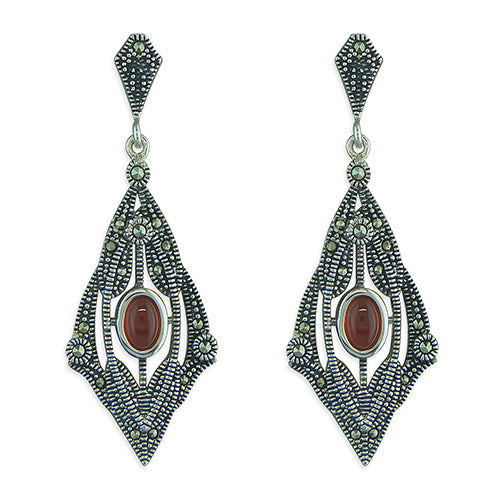 Geometric Marcasite Earrings