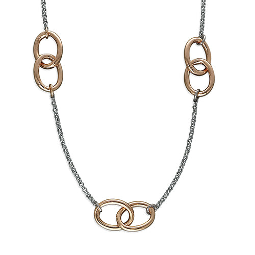 Triple Infinity Loop Rings Necklace