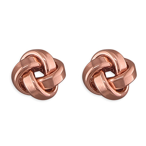 Rose Gold Vermeil Celtic Knot Earrings