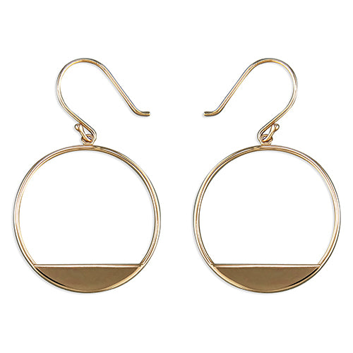 Rose Gold Vermeil Horizon Hoop Earrings