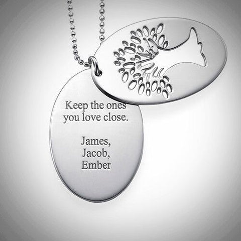 Tree of Life Necklace with Engraving