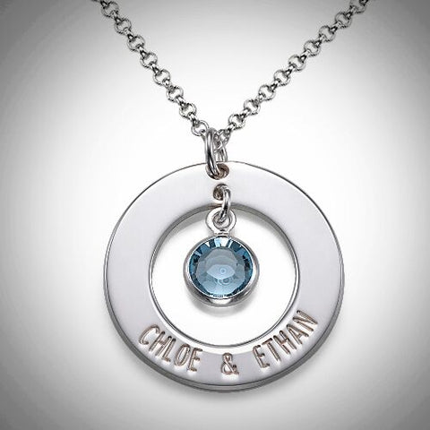 Silver Couple's Ring Necklace