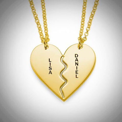 Detachable Hearts Pendant - 18k Gold Plated