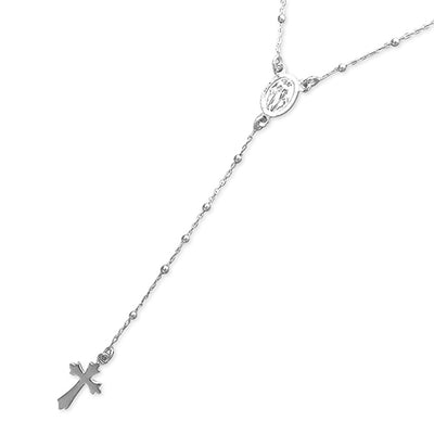 Sterling Silver Stylish Cross Necklace