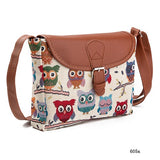 Miyahouse Summer Women Messenger Bags Flap Bag Lady Canvas Cartoon Owl Printed Crossbody Shoulder Bags Small Female Handbags - KrishQ