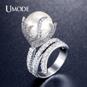 UMODE Natural Freshwater Pearl Ring For Women - KrishQ