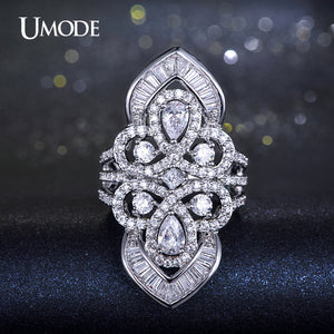UMODE Fashion Jewellery Multi shaped Trendy Cocktail Ring For Women - KrishQ