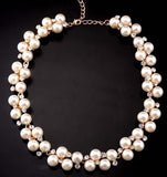 New Hot Simulated Pearl Jewellery Trendy Women Necklaces & Pendants Short Chokers - KrishQ