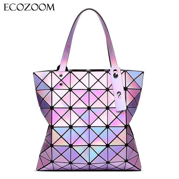 Famous Brands Women Laser Bright BaoBao Tote Lady Geometry Diamond - KrishQ