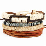 New Fashion accessories anchor Bead Leather Bracelets - KrishQ