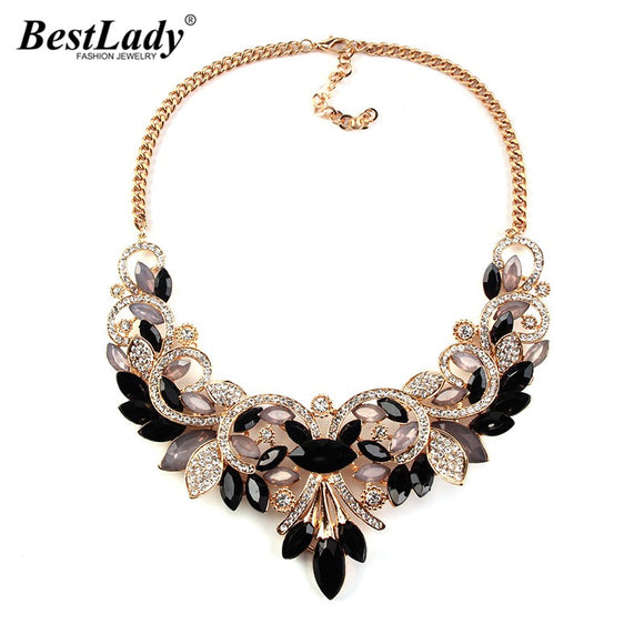 Best lady New Spring Colorful Crystal Women Brand Maxi Statement - KrishQ