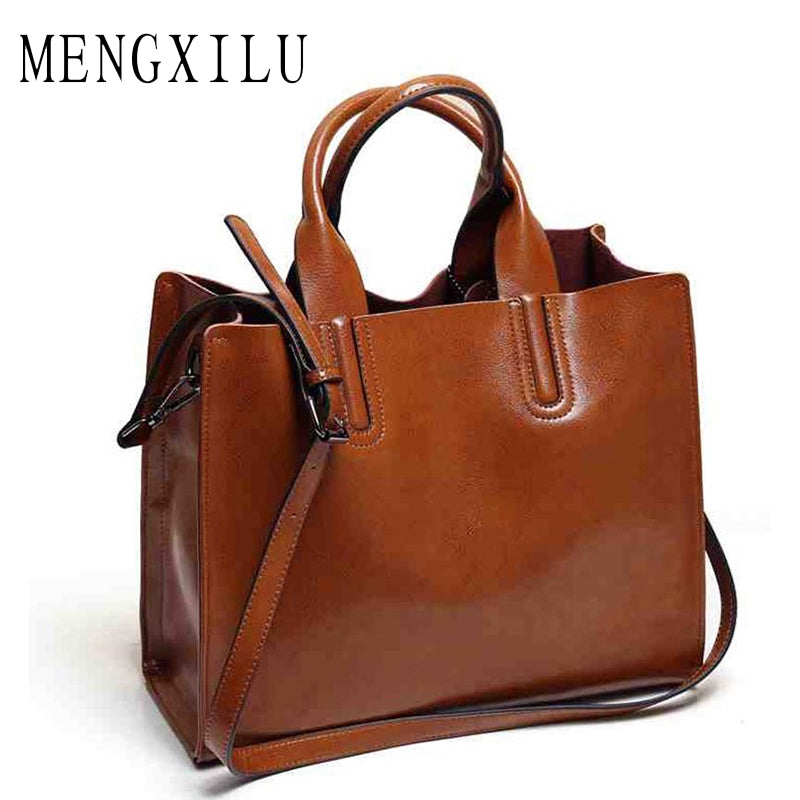 9c0a081403ef Leather Bags Handbags Women Famous Brands Big Casual Women Bags Trunk Tote  Spanish Brand Shoulder Bag ...